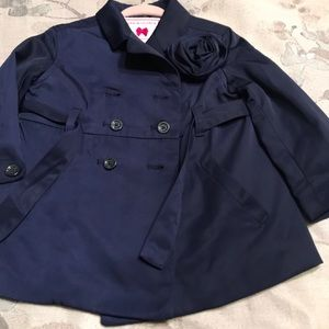 Janie and Jack Navy Blue Trench Jacket